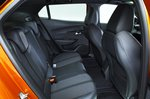 Peugeot 2008 rear seats - orange 69-plate car
