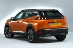Peugeot 2008 rear studio - orange 69-plate car