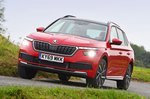 Skoda Kamiq front cornering - red 69-plate car