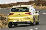 Volkswagen Golf Mk8 rear cornering