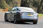 Tesla Model S rear action - 69-plate car
