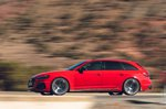 Audi RS4 Avant 2020 RHD left panning shot