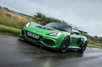 Lotus Exige 2020 RHD front left tracking
