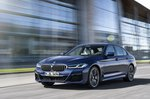 BMW 5 Series saloon 2020 urban front tracking