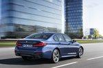 BMW 5 Series saloon 2020 urban rear tracking
