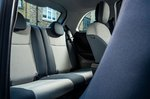 Fiat 500 Electric 2020 rear seats
