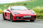 Porsche 718 Boxster 2021 front wide tracking