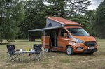 Ford Transit Nugget 2021 awning and roof deployed