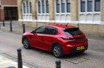 Peugeot e-208 2021 rear tracking