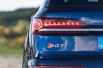 Audi SQ7 2021 rear light and badge detail