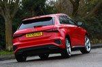 Audi A3 40 TFSIe 2021 rear cornering
