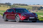 Porsche Taycan Cross Turismo 2021 front right cornering