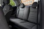 Fiat 500e 2021 interior rear seats