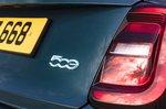 Fiat 500e 2021 badge detail