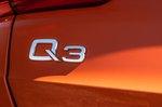 Audi Q3 2021 badge detail