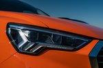 Audi Q3 2021 headlight detail