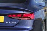Audi A5 Sportback 2021 rear light detail