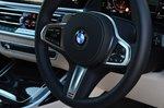 BMW X7 2021 interior steering wheel detail