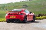 Porsche Cayman GT4 2021 rear cornering