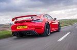 Porsche Cayman GT4 2021 rear right tracking