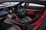 Lexus RC F 2021 interior front seats