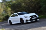 Lexus RC F 2021 front right tracking