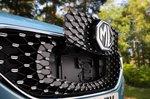 MG ZS EV 2021 grille detail