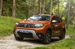 Dacia Duster 2021 front left forest road
