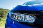 Honda Civic 2021 headlight detail