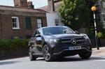 Mercedes EQC 2019 UK wide front tracking shot