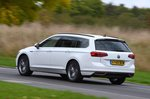 Volkswagen Passat Estate GTE 2021 RHD rear tracking shot