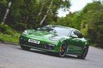 Porsche Panamera GTS 2019 wide front cornering shot
