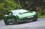 Porsche Panamera GTS 2019 front cornering shot