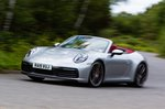 Porsche 911 2019 UK front left tracking