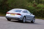 Audi A7 2019 right rear cornering