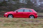 Audi A3 Sportback 2019 left panning shot