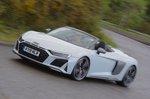 Audi R8 Spyder 2019 RHD front cornering shot