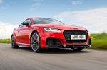 Audi TT RS 2019 RHD front cornering