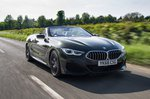 BMW 8 Series Convertible 2019 RHD front tracking shot