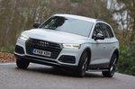 Audi Q5 2019 front left tracking shot