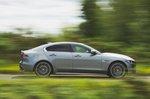 Jaguar XE 2019 side tracking shot
