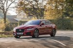 Jaguar XF 2017 front left panning shot