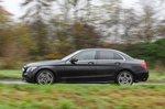 Mercedes-Benz C-Class 2019 left panning shot