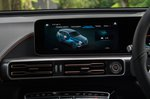 Mercedes EQC 2019 RHD UK centre console detail