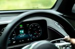 Mercedes EQC 2019 UK RHD steering wheel detail