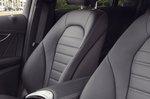Mercedes EQC 2019 RHD UK interior detail front seats