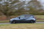 Nissan Micra 2019 left side panning shot