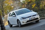 Volkswagen e-Golf 2017 RHD front cornering shot