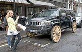 Hummer gets wagon wheels