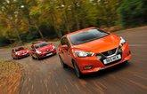 New Nissan Micra vs Renault Clio vs Skoda Fabia